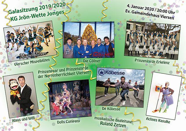 Programm Galasitzung 2019/2020